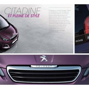 Brochure-catalogue de la nouvelle Peugeot 108